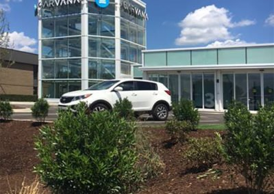 Landscaping at Carvana Location