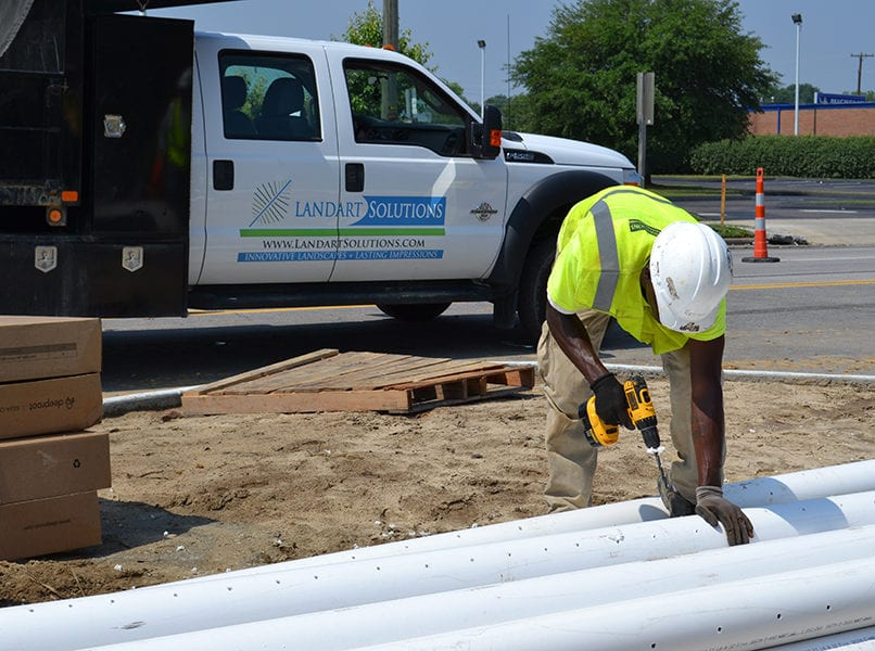 commercial drainage project