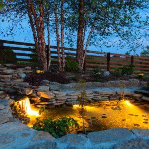 Water Feature Exterior Night Lighting