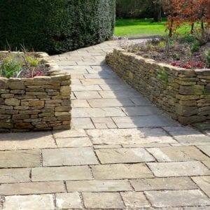 Concrete pavers pathway
