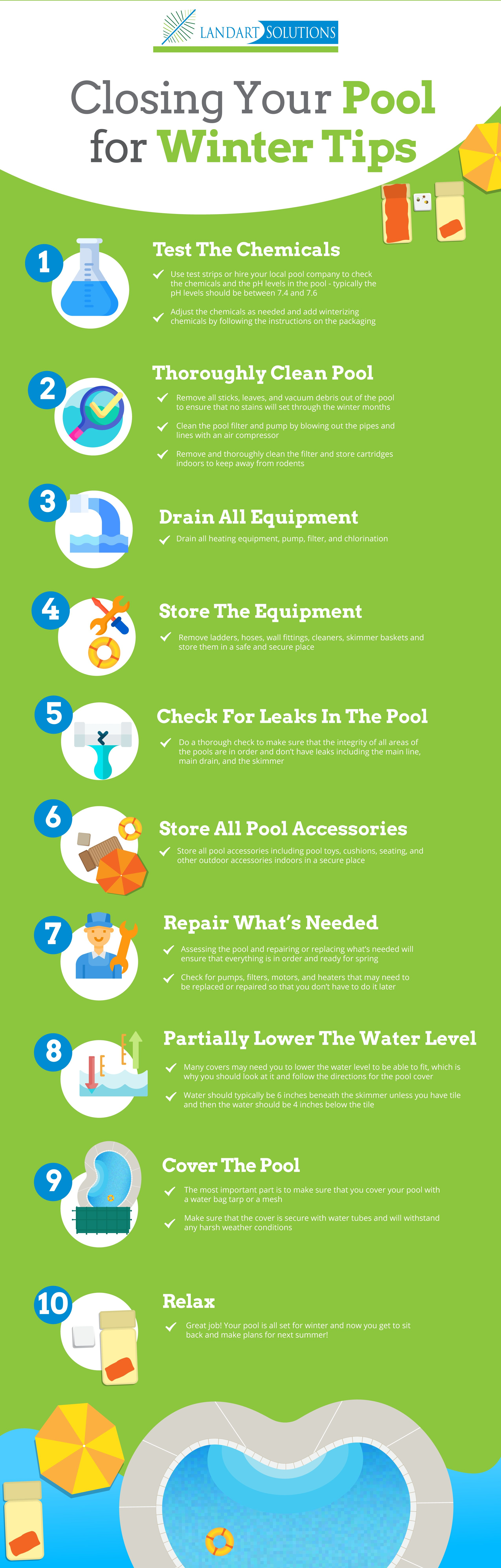Tips for closing your pool for winter